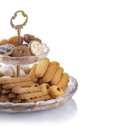 Egyptian Traditional Eid Al-Fitr Cookies and Biscuits Isolated, Happy Eid