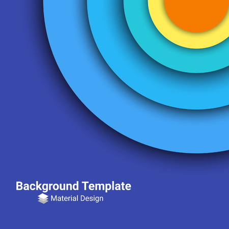 material: Abstract modern colorful background. Material design template. Vector illustration
