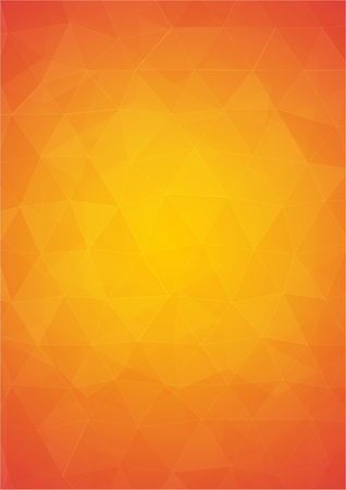Orange and yellow abstract background with triangular shapes