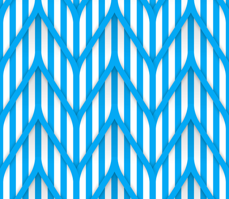geometrical pattern: Seamless geometrical pattern. Blue stripes on a white background. Vector illustration