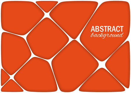 volumetric: Volumetric geometrical bright orange background with outline extrude effect.  Abstract 3d vector background.