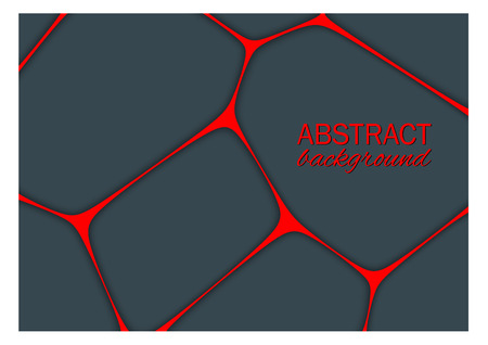 volumetric: Volumetric geometrical dark background with outline extrude effect.  Abstract 3d vector background.