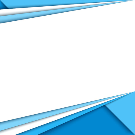 Material design background. Modern colorful  background, trendy geometrical template. Abstract illustration. Blue brochure, report cover. Фото со стока - 53446909