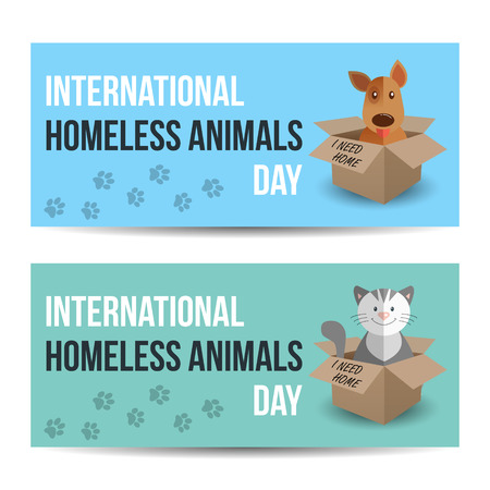 Modern Colorful Horizontal Banners Template. International Homeless ...