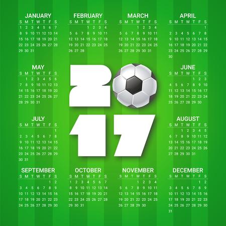 Kalender Für 2018 Jahr Auf Hellen Bunten Sechseckigen Hintergrund ...