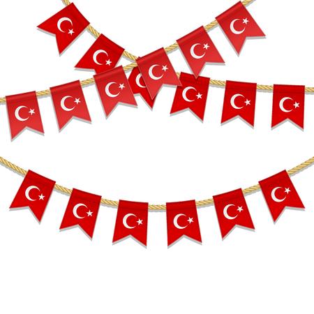 Rotes Herz Mit Türkischer Flagge, Weißem Stern Und Halbmond ...