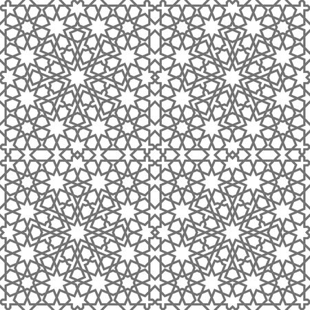traditional pattern: Islamic seamless vector pattern. Geometric ornaments based on traditional arabic art. Oriental muslim mosaic. Turkish, Arabian, Moroccan design on a white background. Mosque decoration element.