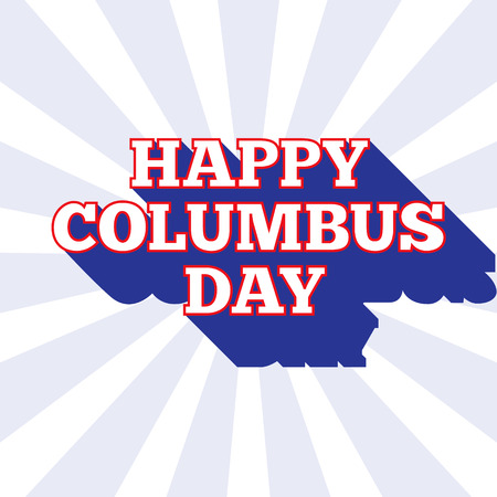 Columbus Day vector background. USA patriotic template with text for posters, decoration in colors of american flag. Anniversary of Christopher Columbuss arrival in the Americas.