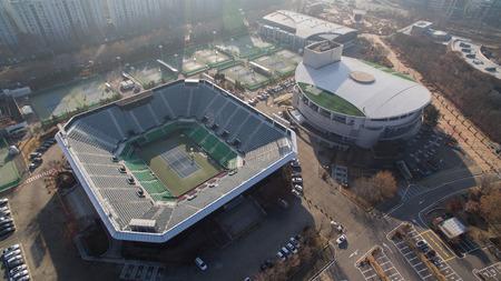 Olympisch park tennisstadion Redactioneel