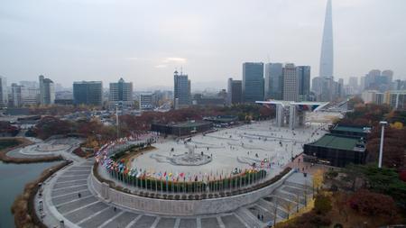 Landschap van Olympisch park