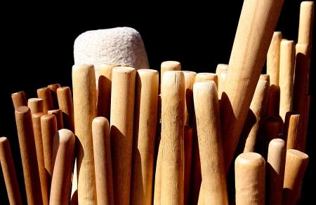 Bachi (Wooden Sticks für japanische Taiko Drums spielen).