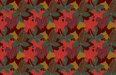Herbstlaub-Hintergrund-Illustration