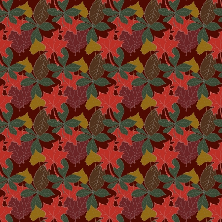 eroded: Autumn Leaves Pattern