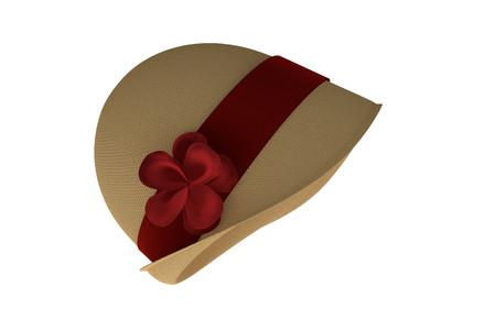 Cloche Hut (3d render isoliert auf weißem Hintergrund)