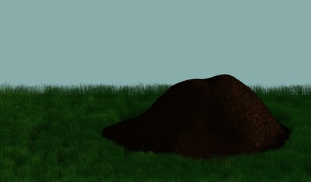 Compost Pile (3d render) Stock Photo