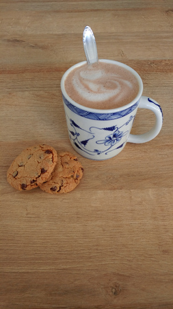 Coffee and Cookies (vertical with text space)