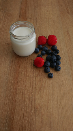 Wholesome Breakfast with Yogurt and Berries