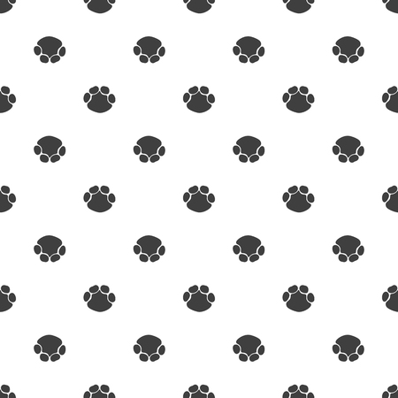 Seamless pattern, animal foot vector background illustration. Elephant on white background footprint.