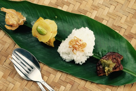 weave: Traditional home-cooked dishes from Indonesia Stock Photo