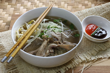 hoisin sauce: Pho Bo Chin, Vietnamese beef and rice noodle soup
