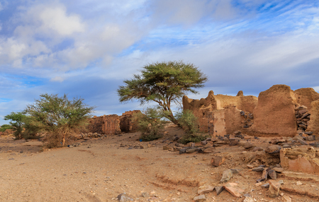 ruins of the ancient town in the Sahara desert, Morocco