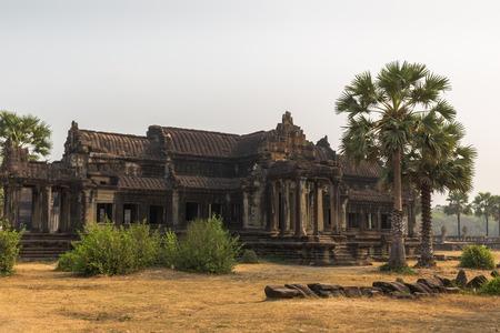 siem: Angkor wat temple in  Siem Reap Cambodia Stock Photo