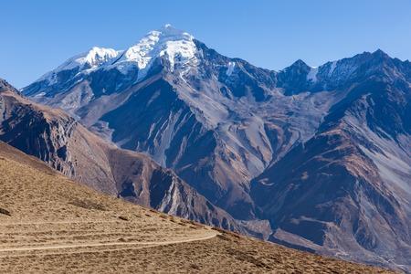 tibetian: Himalaya mountains, Nepal. Stock Photo