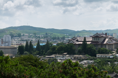 view of the city of Kaesong, North Korea