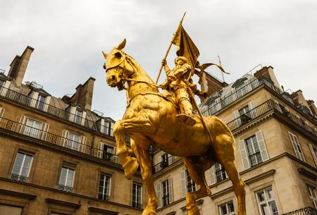 The golden statue of Saint Joan of Arc