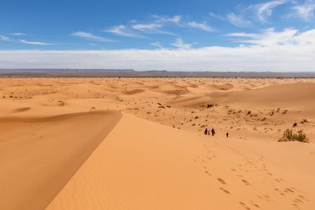 Sand Dunes of Erg Chebbi in he Sahara Desert Morocco