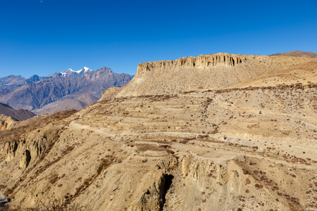 View on the Himalayan Mountains. lower mustang Nepal.