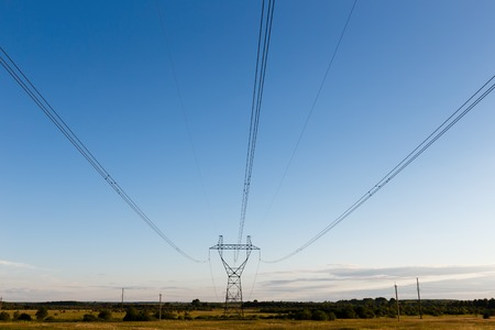 support of high-voltage power line in the field