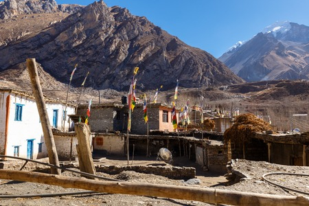 houses in the village of Jhong, Lower Mustang, Nepal