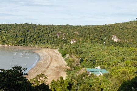 View of rainforest and beach in Bako National Park, Sarawak. Borneo. Malaysia
