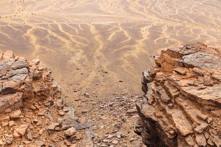 view from the mountain to the desert, Sahara Desert, Morocco