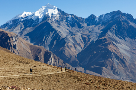 View on the Himalayan Mountains. lower Nepal