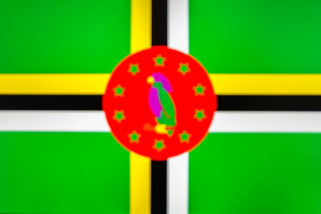 abstract blurred background color of the national flag of Dominica, Patriotic background Reklamní fotografie