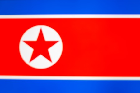 abstract blurred background color of the national flag of North Korea, Patriotic background Imagens - 122190328