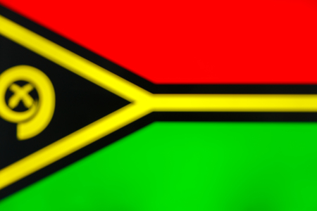 abstract blurred background color of the national flag of Vanuatu, Patriotic background