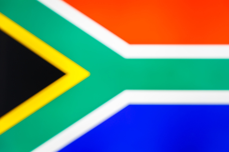 abstract blurred background color of the national flag of South Africa, Patriotic background Imagens - 122190348