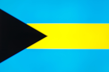 abstract blurred background color of the national flag of the Bahamas, Patriotic background