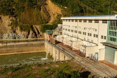 Phong Tho, Lai Chau, Vietnam - November 21, 2018: Hydropower Nam Na 2. Hydropower plant, located on the river of the same name, is just part of Vietnam impressive hydropower potential. Editorial
