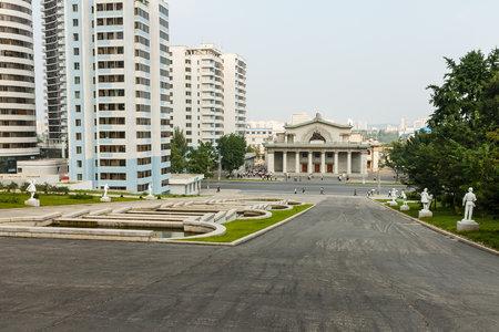 Pyongyang, North Korea - July 29, 2014: Taedongmoon Cinema is a movie theater located in Sungri Street in Pyongyang.