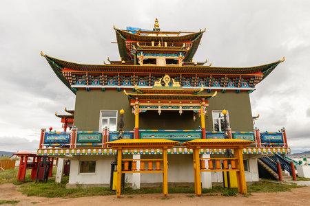 Ivolginsky datsan, Buryatia, Russia - September 07, 2018: Ivolginsky datsan is the Buddhist Temple located in Buryatia. Green Tara Temple, Dugan Green Tara. 報道画像