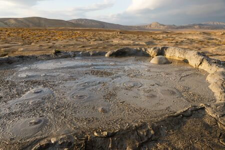 Mud volcanoes of Gobustan near Baku, Azerbaijan.