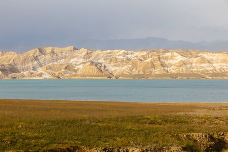 Toktogul Reservoir, reservoir in the territory of the Toktogul district of the Jalal-Abad region of Kyrgyzstan