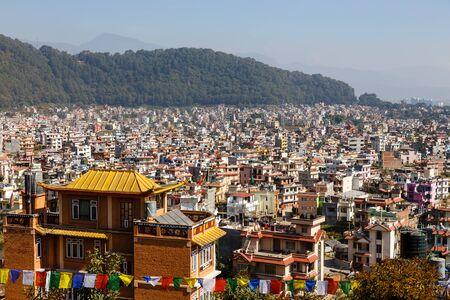 Panoramic view to Kathmandu city, Nagarjun, Nepal