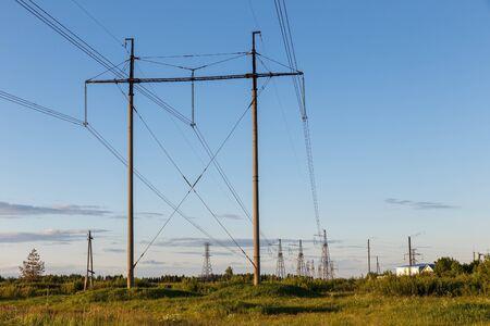 500 kV high voltage power line, electricity pylon