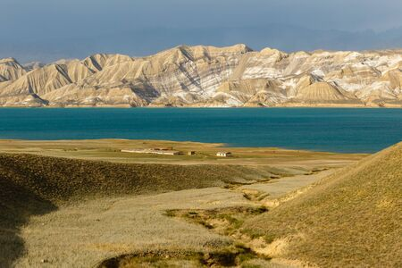 Toktogul Reservoir, reservoir in the territory of the Toktogul district of the Jalal-Abad region of Kyrgyzstan.