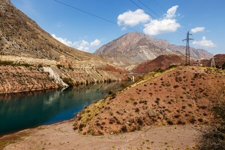 The Naryn River in the Tian Shan mountains, Karakol Kyrgyzstan